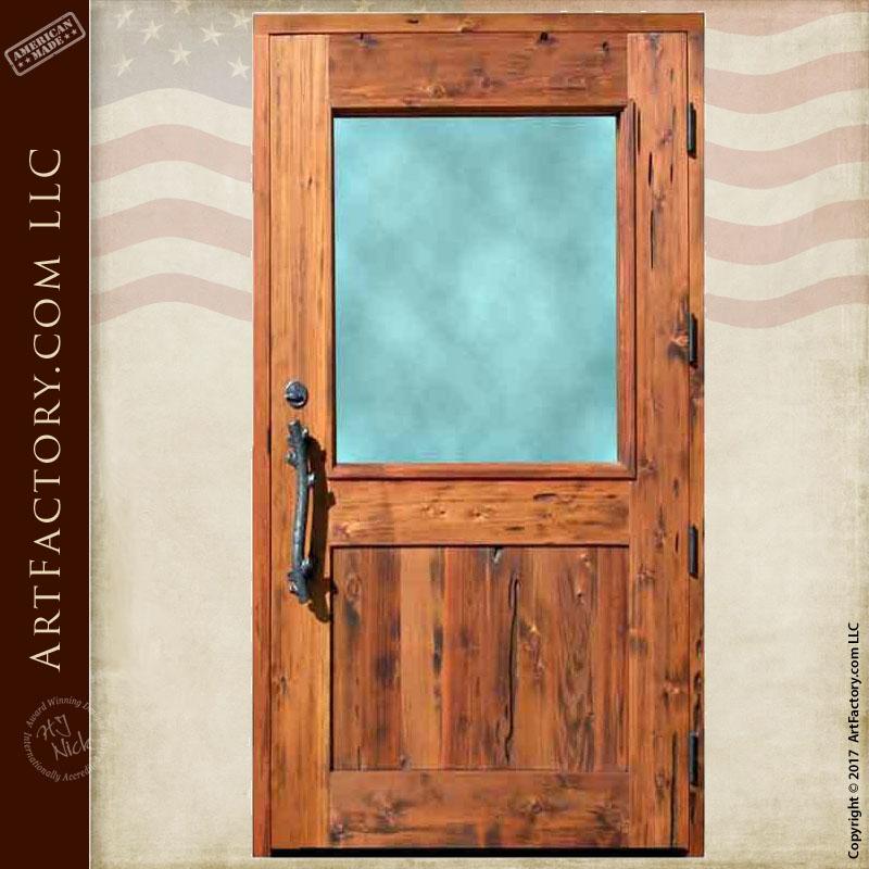 half lite wood door