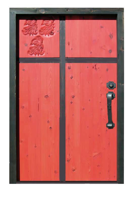custom knights templar theme door
