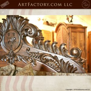 footboard carvings close up