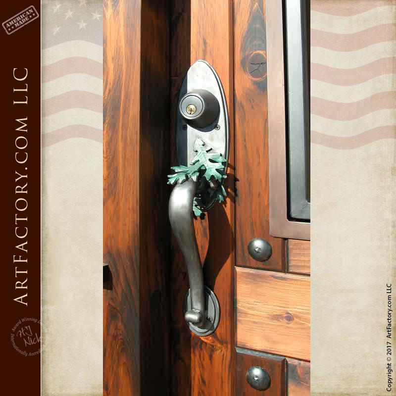 oak leaf door handle