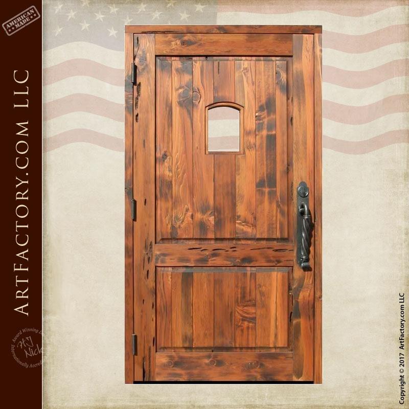 wood panel portal window door