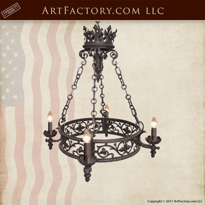 blacksmith hand forged custom chandelier