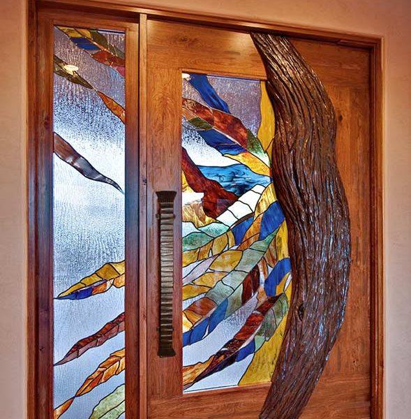 fine art stained glass door