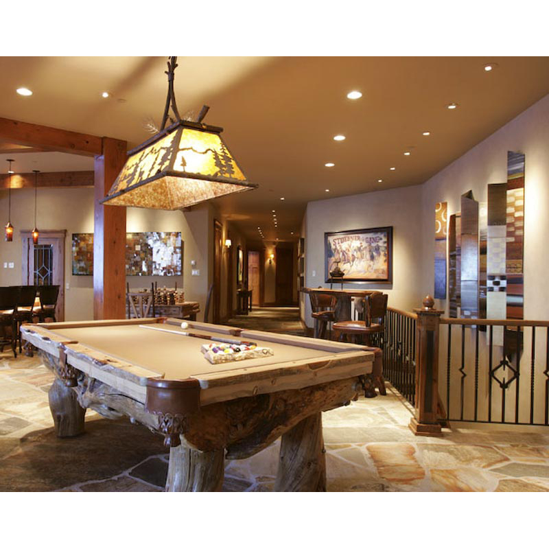 Custom pool tables western gametables rustic billiard for Pool room decor