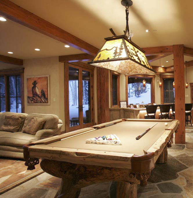 Custom Pool Tables Western Gametables Rustic Billiard