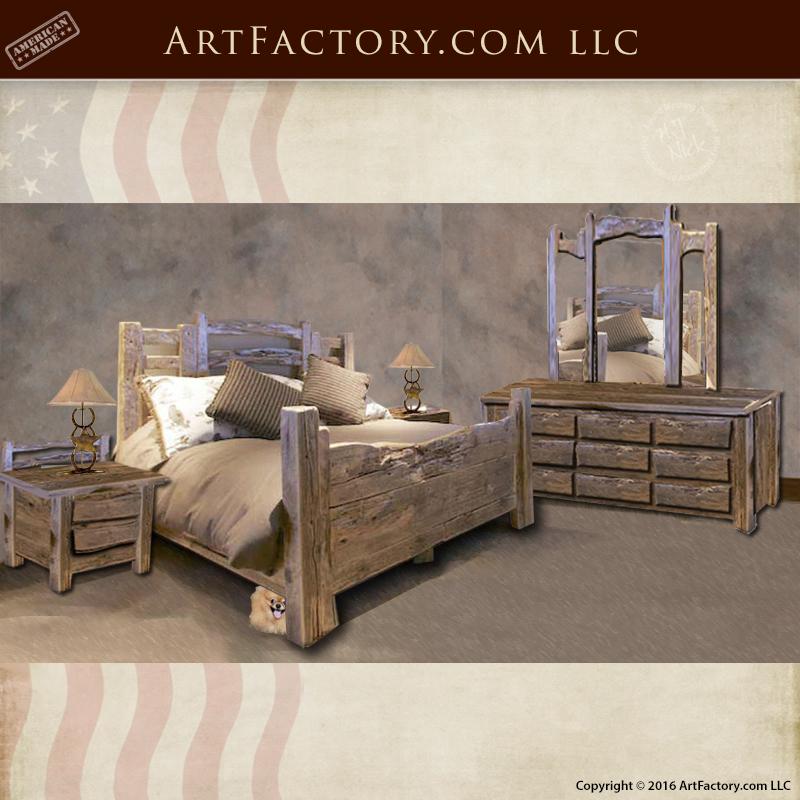Rustic Western Style Beds Custom Handmade Bedroom Furniture