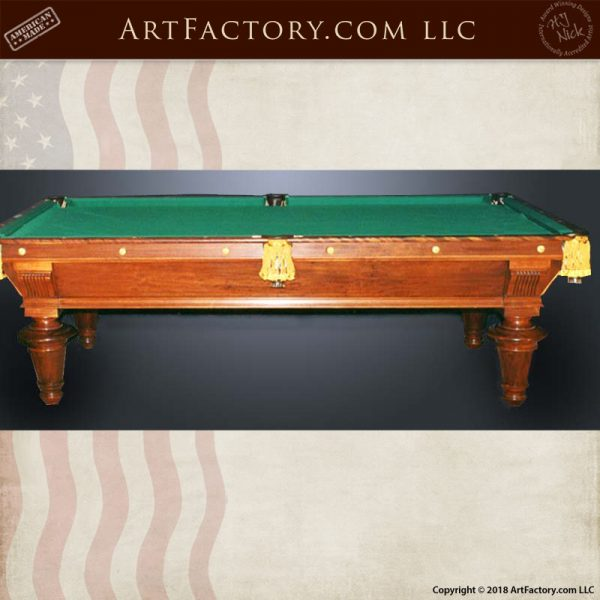 custom handmade pool table