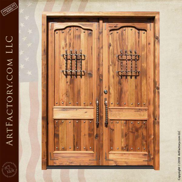 custom speakeasy double doors