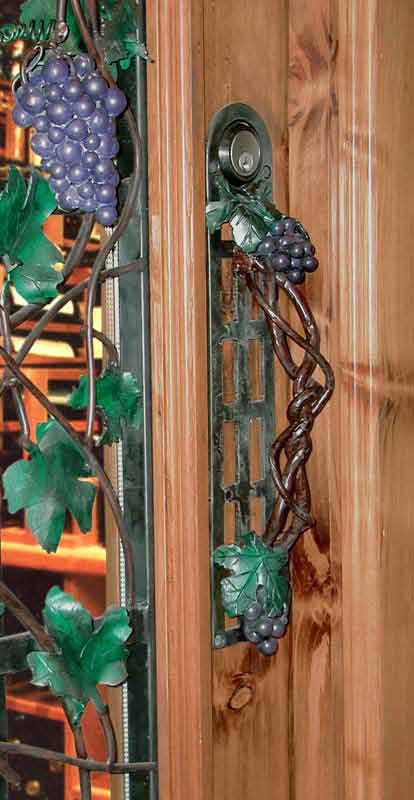 Grapes Wrought Iron Arbor Wrought Iron Wine Door Grill