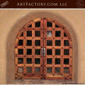 arched French castle gates