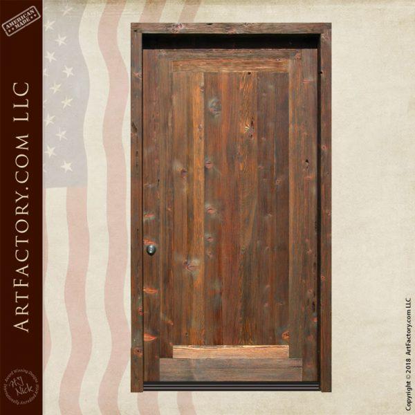 weathered solid wood door