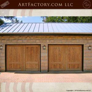 matching double garage doors