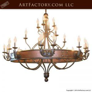 Spanish Gothic Copper Chandelier