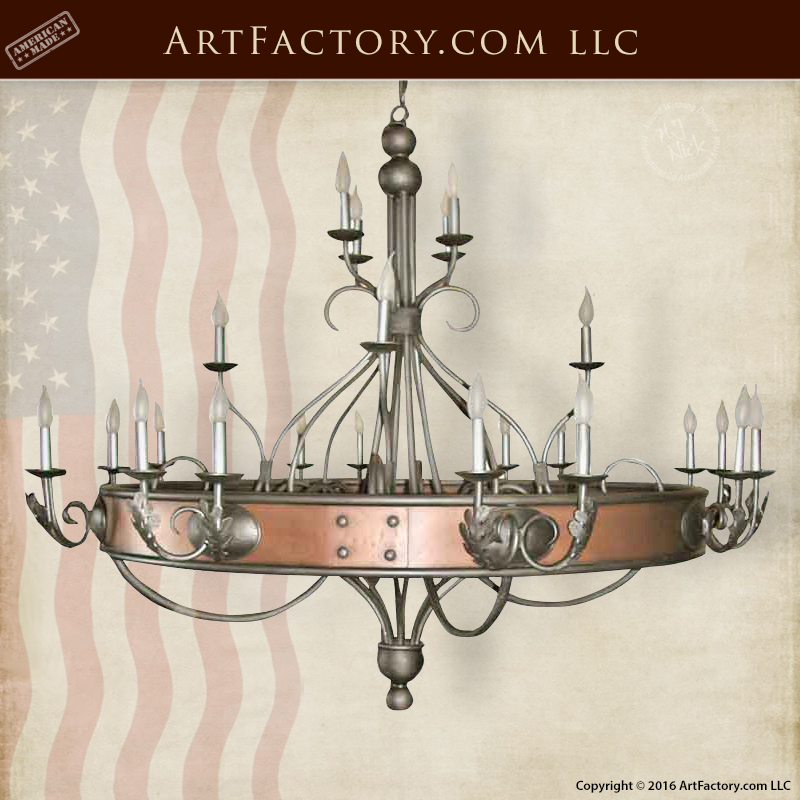 Spanish Gothic Copper Chandelier Design Inspired By Pere