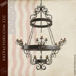 fine art iron chandelier