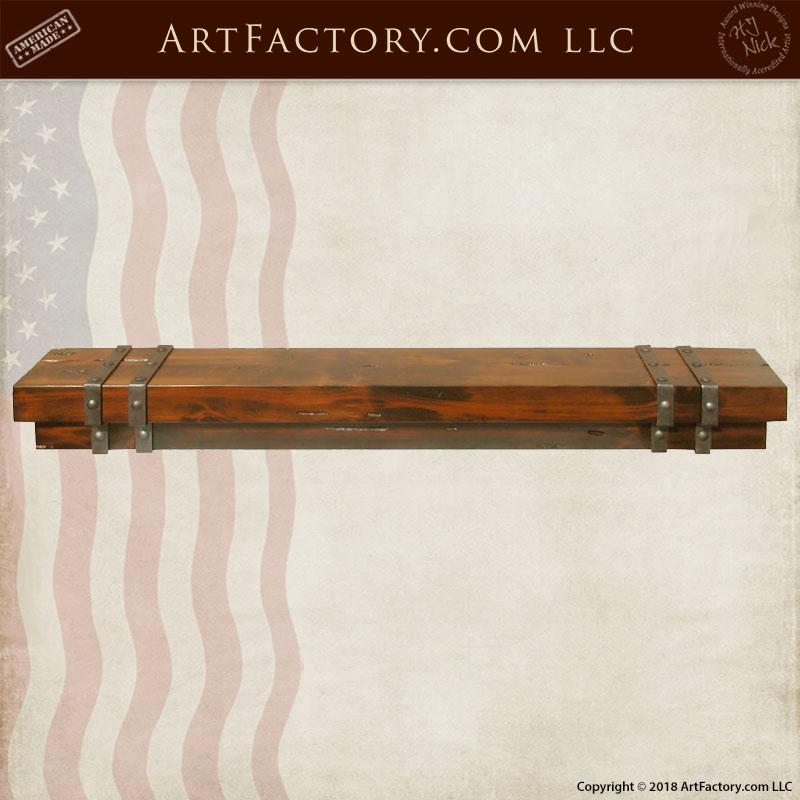 custom wood fireplace mantel