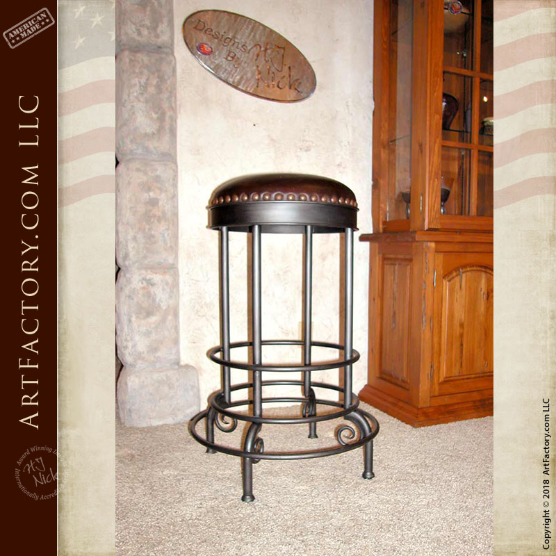 hand forged iron bar stools