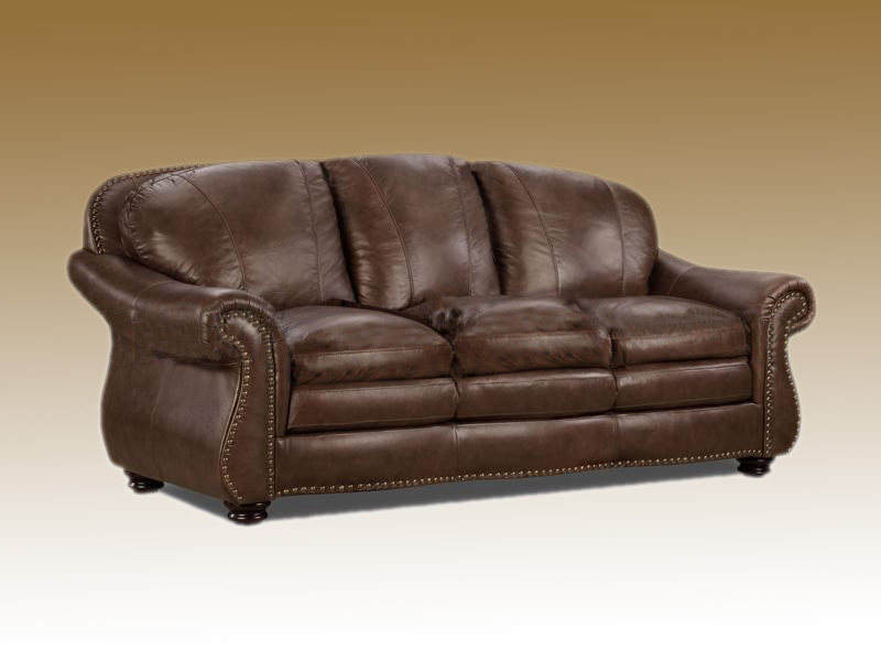 Roll Arm Luxury Leather Sofa Custom Furniture Couch