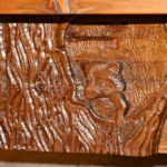 Lodge Pool Table Hand Carved By Our Master Carvers