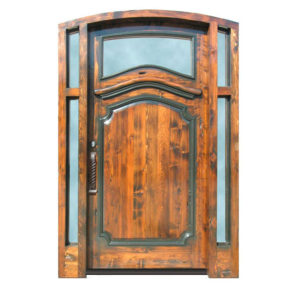 custom wood security entry door
