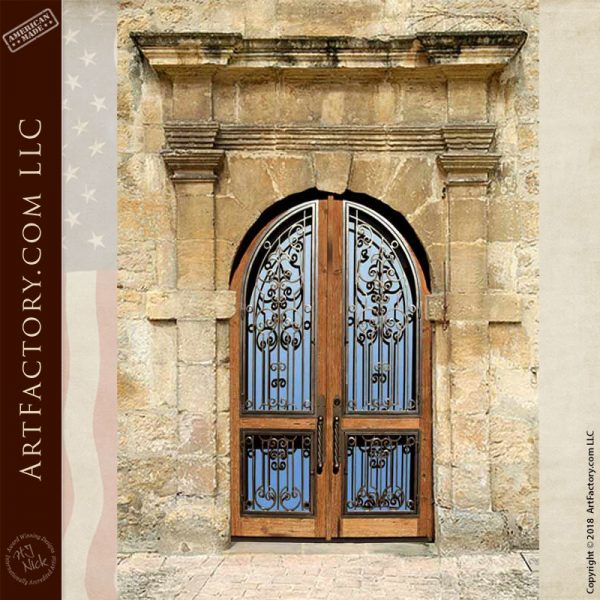 arched fortress entry doors