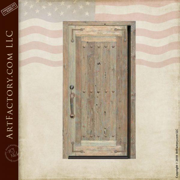 custom handmade wooden door
