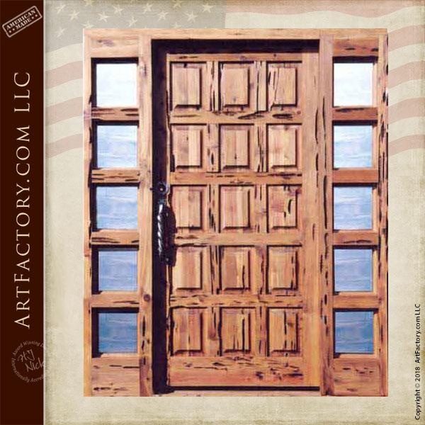 handmade raised wood panel door