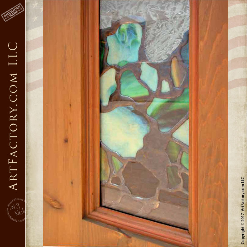 Stained Glass Craftsman Front Door Handmade With Custom