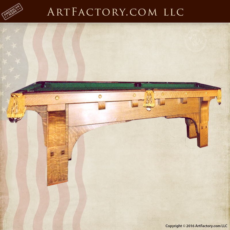 Superbe Pool Table U2013 Arts U0026 Craftsman Pool Table 1900 America U2013 CPT0536