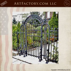 floral theme iron gate