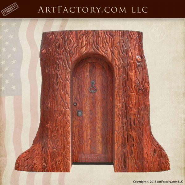 custom door in tree