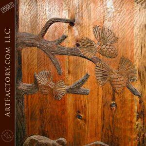 Door Hand Carved with Sleeping Bear