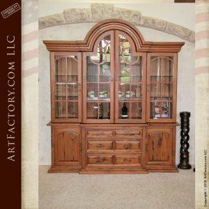 custom exotic wood China cabinet