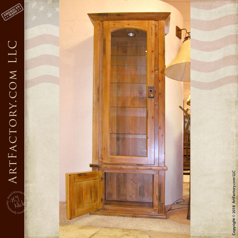 Handmade Solid Wood Island Units: Handmade Solid Wood Display Cabinet: Custom Made To Order