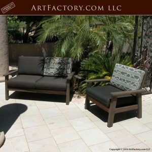 custom wood patio furniture