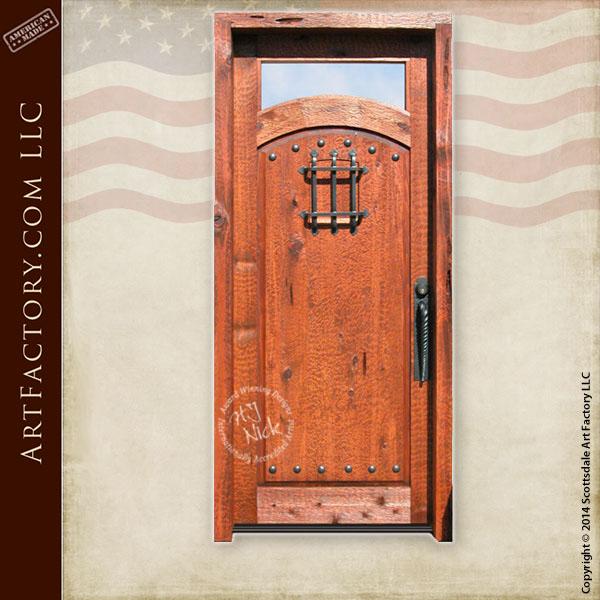 solid wood speakeasy door