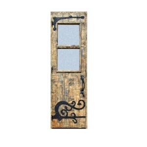 hand crafted solid wood door