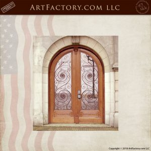 arched ironwork double doors