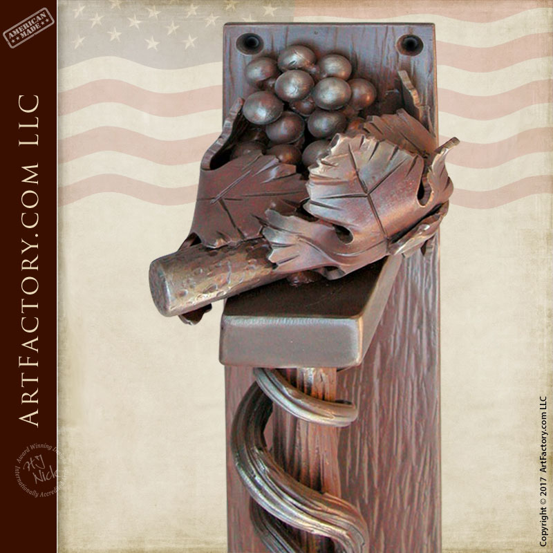 Door Pull In A Fruiting Grapevine Design