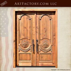 Greek hand carved doors