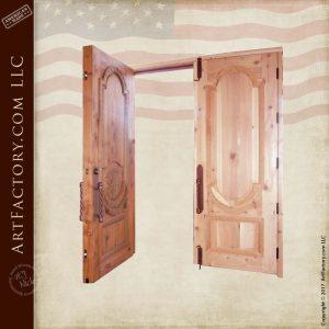 Greek hand carved door open position