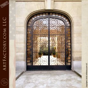 arched iron entrance gate