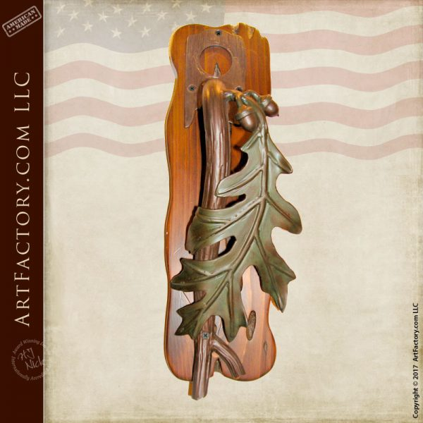 oak leaf door pull