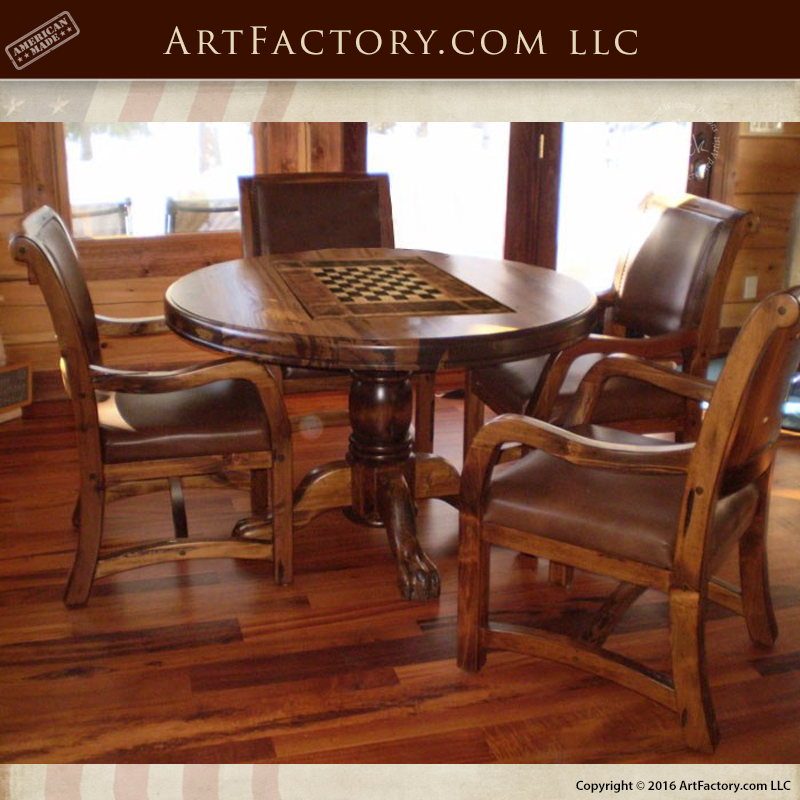 Solid Wood Game Table
