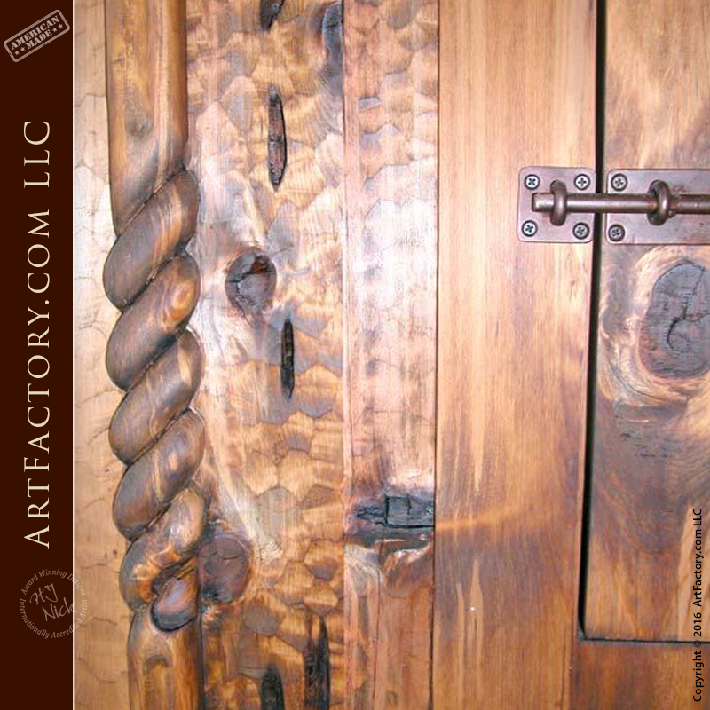 & Rustic Log Cabin Door: Custom Solid Wood Entrance Doors