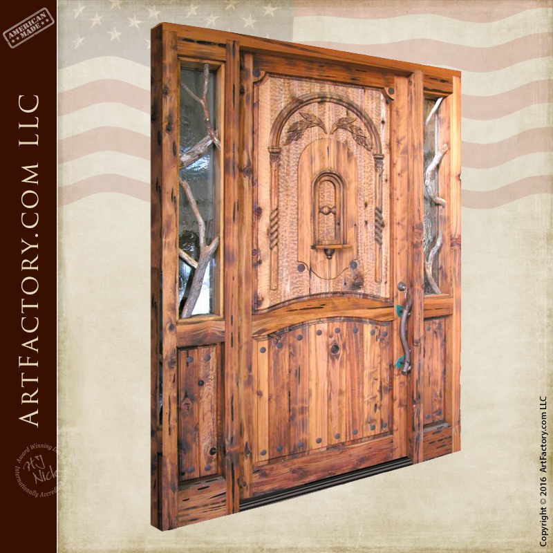Cool Rustic Log Cabin Door Custom Solid Wood Entrance Doors Interior Design Ideas Inesswwsoteloinfo