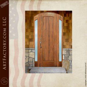 semi arched wooden door