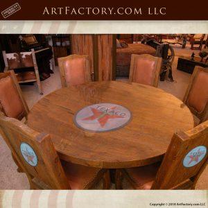 Texaco themed round table