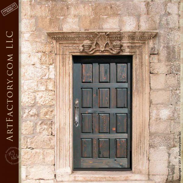 rustic wood panel door