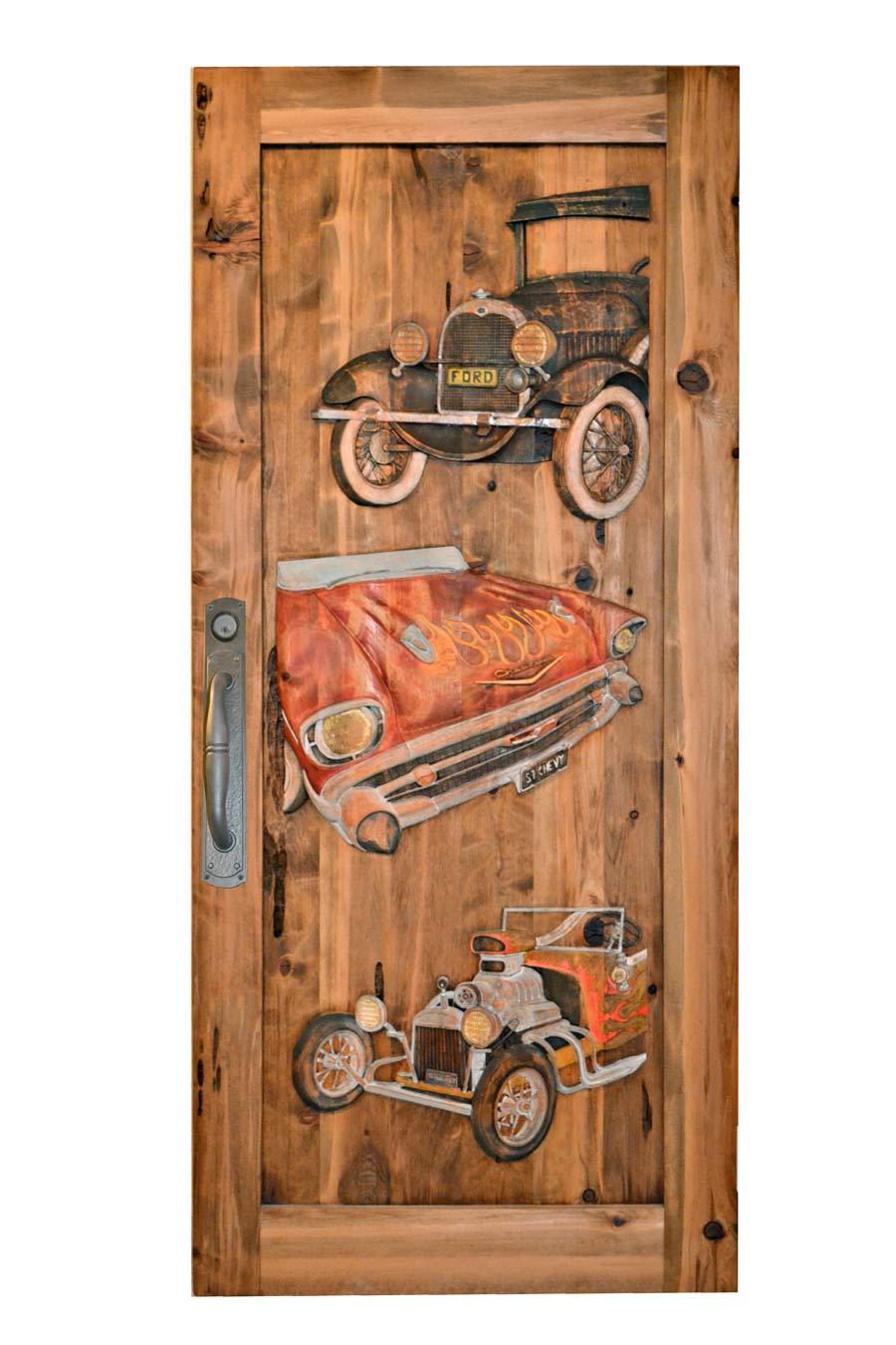 Wood Garage Doors Garage Entry Door Hand Carved Car